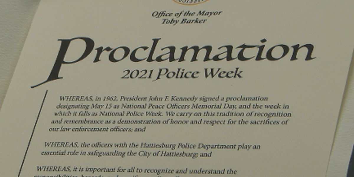 Mayor proclaims Police Week in Hattiesburg