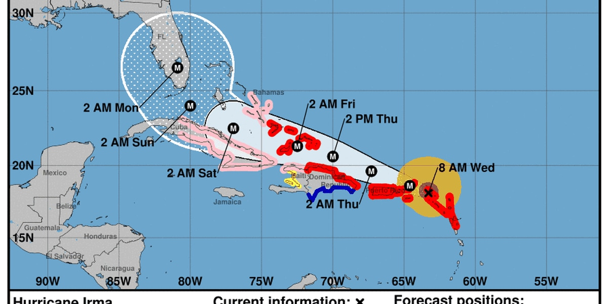 Latest forecast track shows clearer turn for Irma