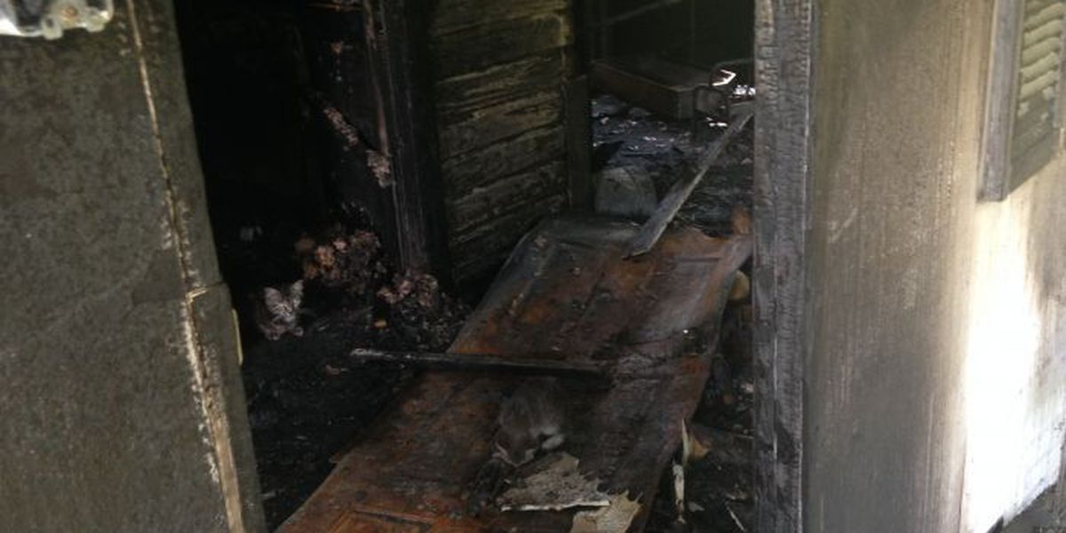 Jones County man lucky to be alive after fire destroys home