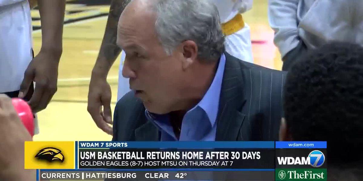 USM basketball returns home after 30 days