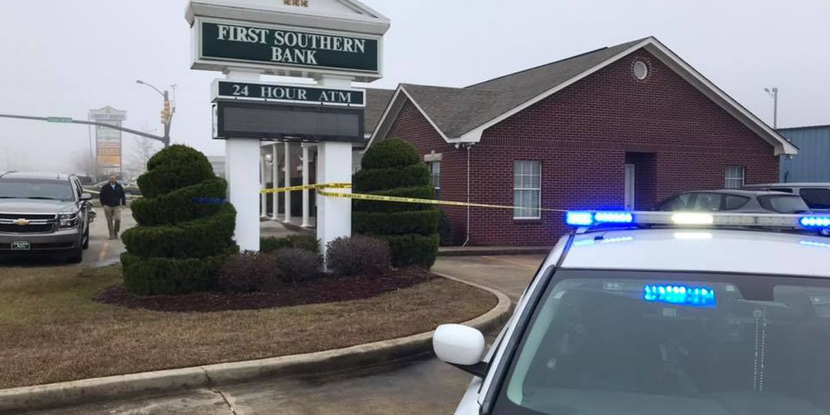 Attempted bank robbery reported at First Southern Bank in Hattiesburg