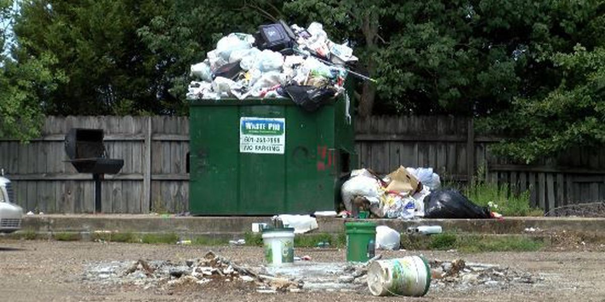 Trash causing problems for residents at a Hattiesburg apartment