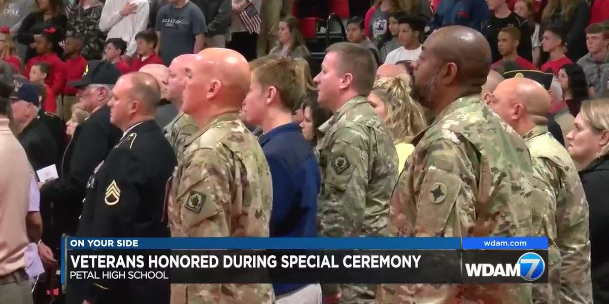 Veterans honored during Petal High ceremony