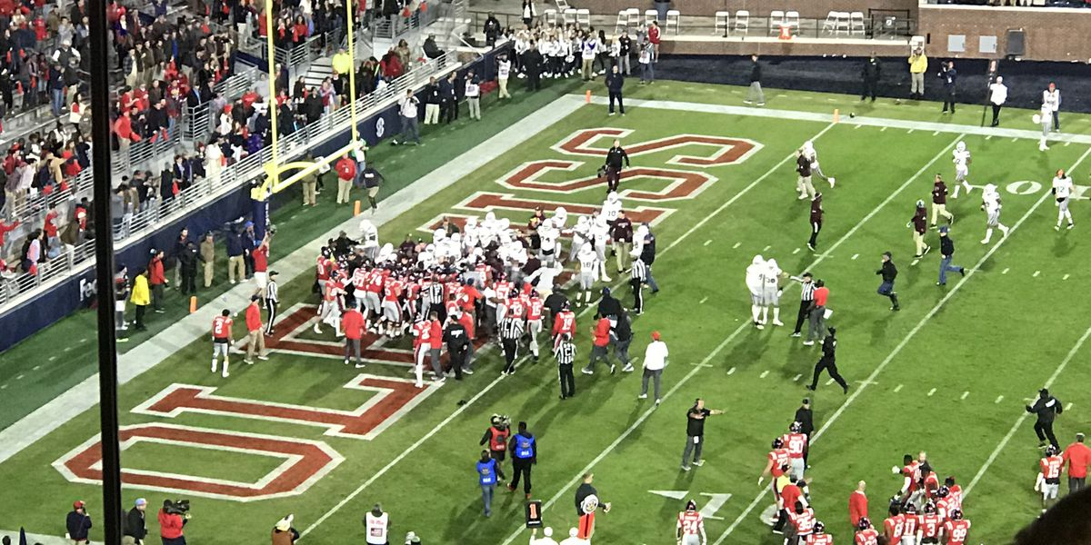 SEC releases statement on Egg Bowl fight