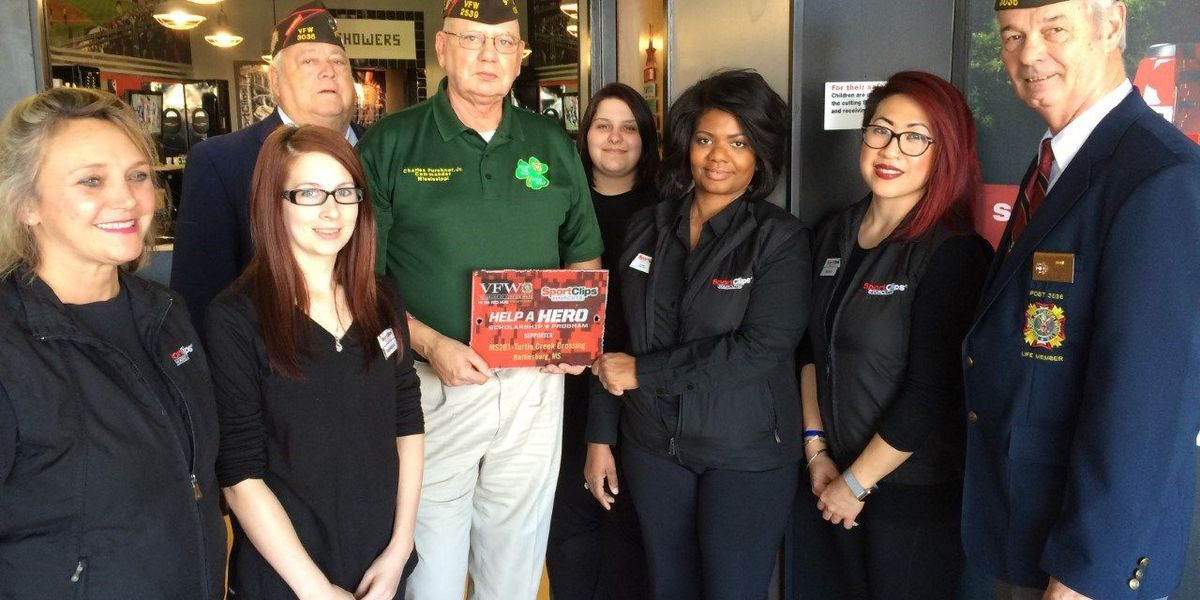 VFW honors Sport Clips Haircuts for support of veterans