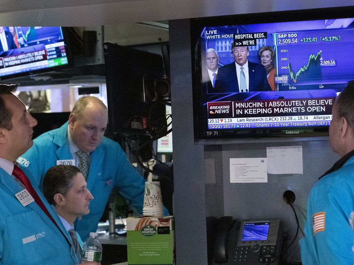 Wall Street pushes higher, led by surging health care stocks