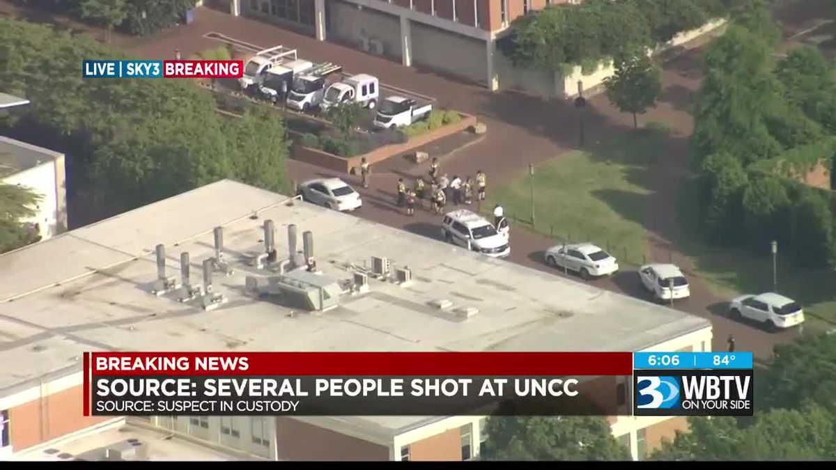 Sources: Several shot, one in custody on UNC Charlotte campus
