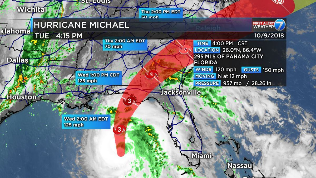 FIRST ALERT: Michael strengthens to Major Hurricane