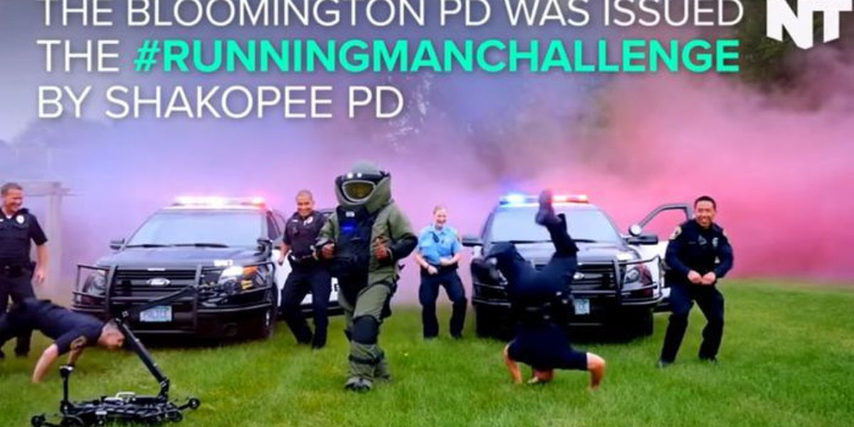 Did the police just win the running man challenge?