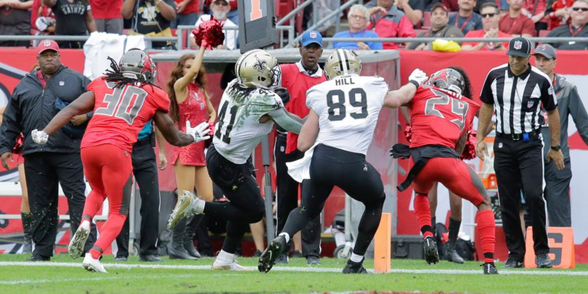 Saints outscore the Bucs 25-0 in the second half, clinch NFC South