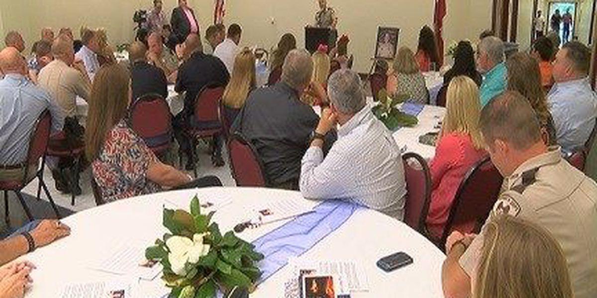 Jones County-area law enforcement honors retiring officer Stiles