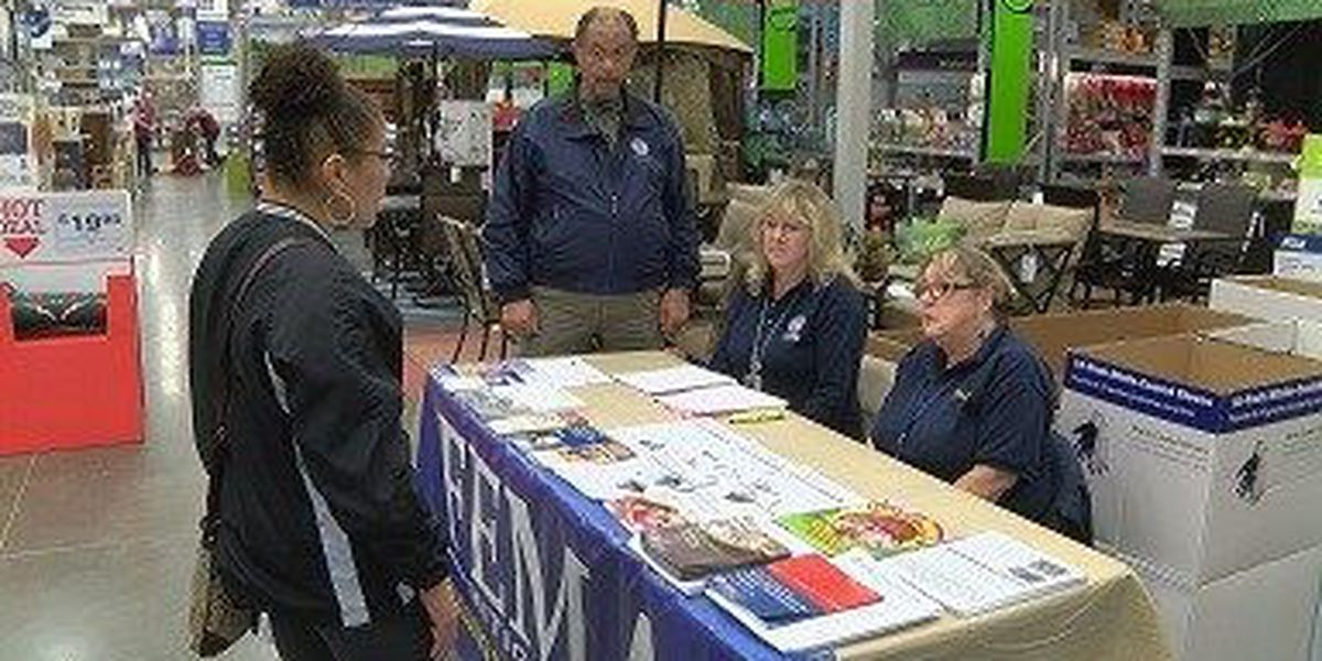 FEMA sets up mitigation stations at Petal, Hattiesburg Lowe's