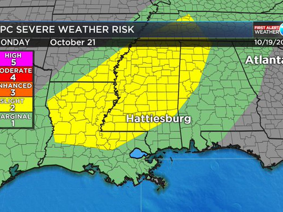 FIRST ALERT: Severe weather possible, but not likely, on Monday