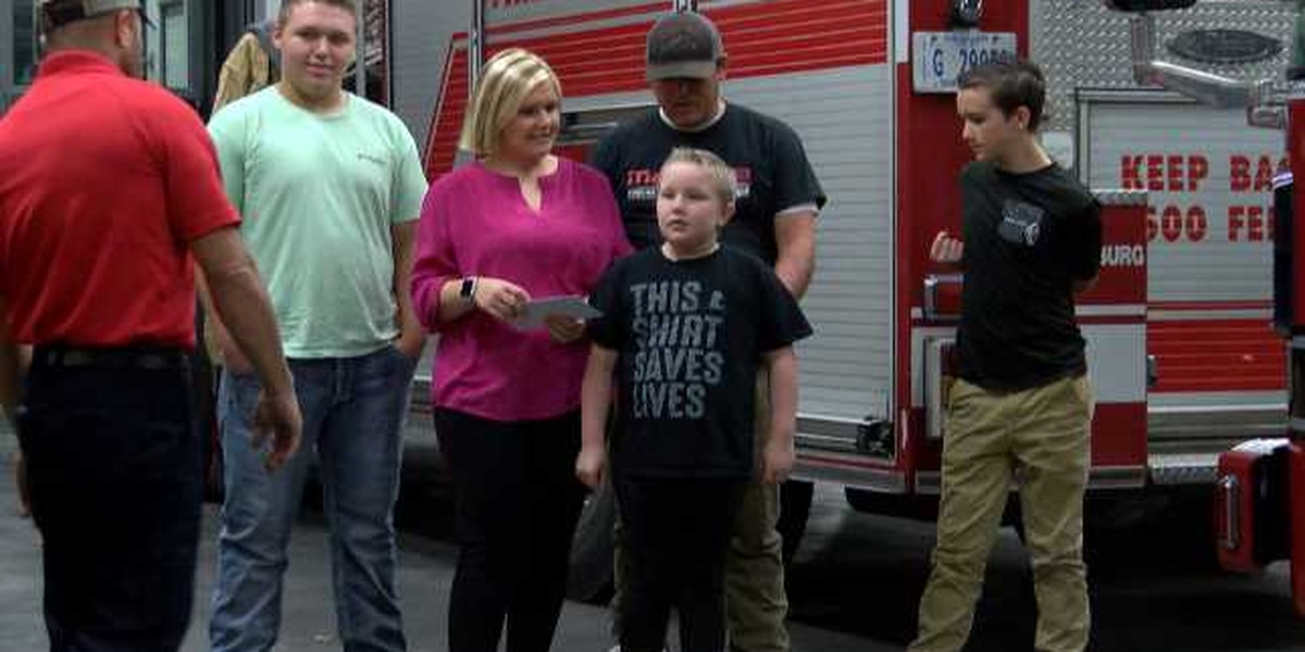HFD donates 'No Shave November' funds to family
