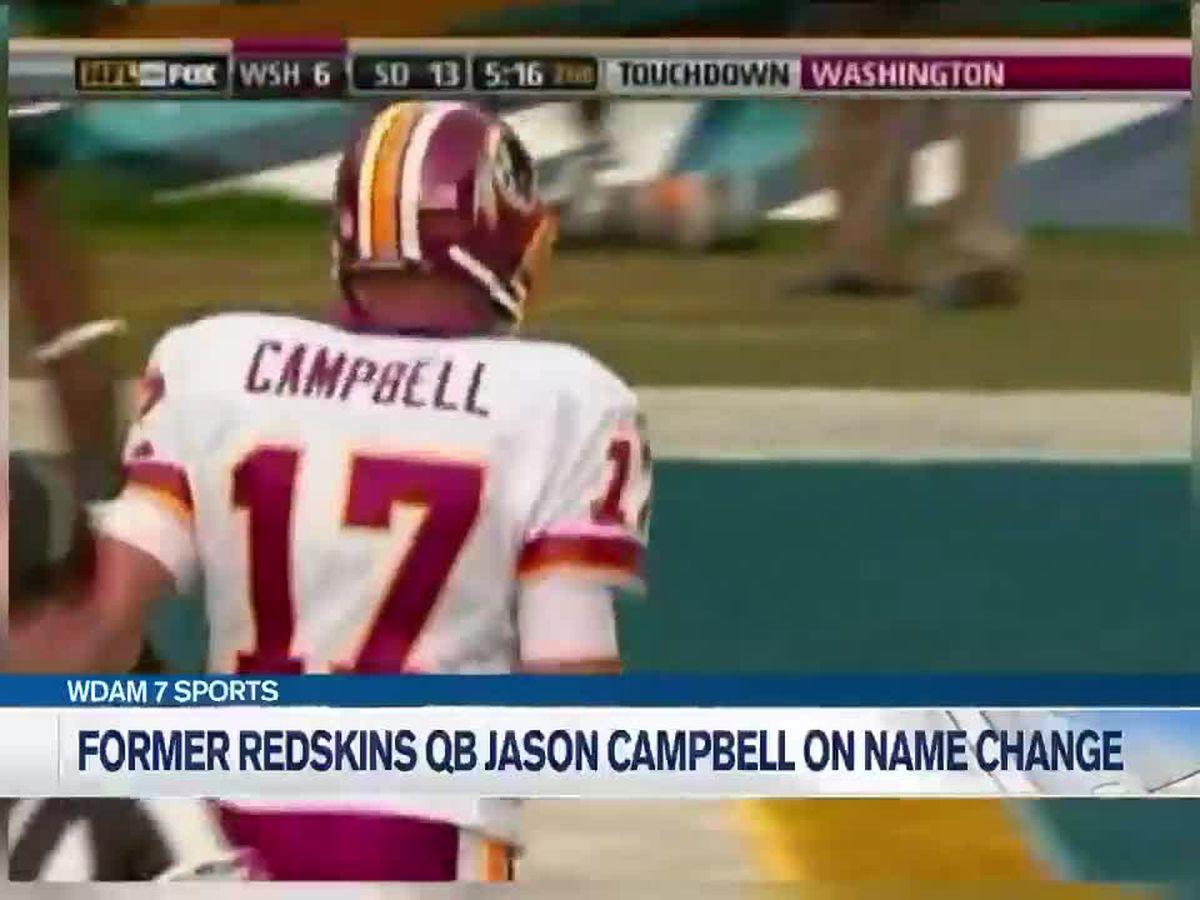 Taylorsville native and former NFL quarterback Jason Campbell shares thoughts on Redskins name change