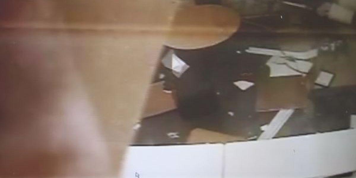 Surveillance video captures tornado damage in Columbia