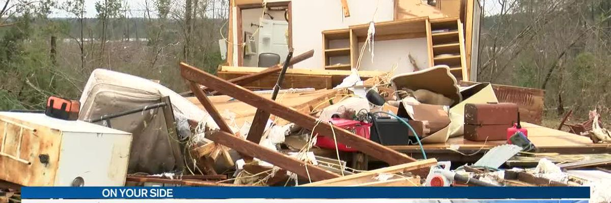 Homes destroyed by overnight storms in Jasper County