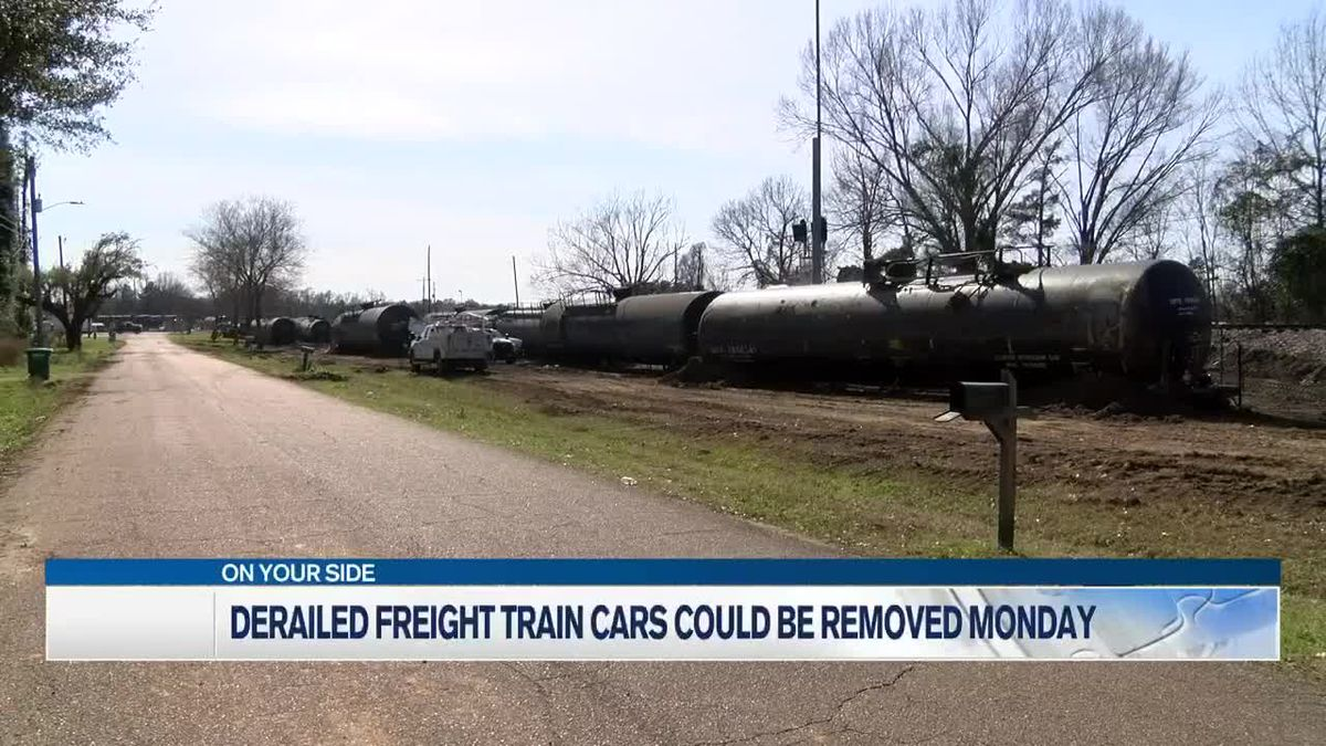 Norfolk Southern could begin removing derailed freight cars Monday