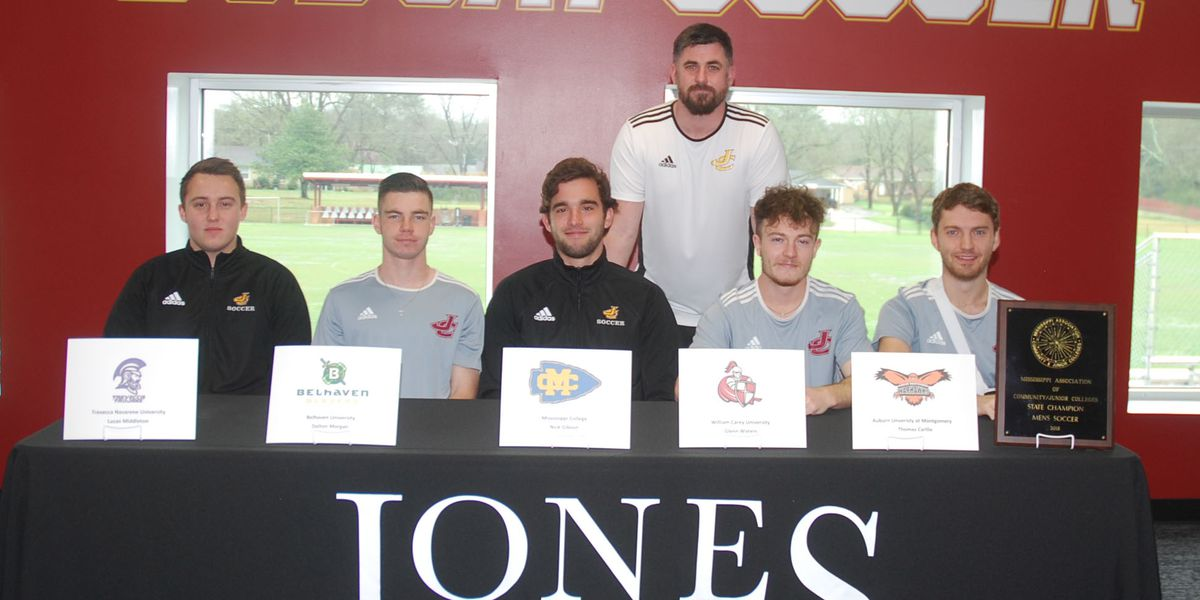 Five JC soccer players sign scholarships