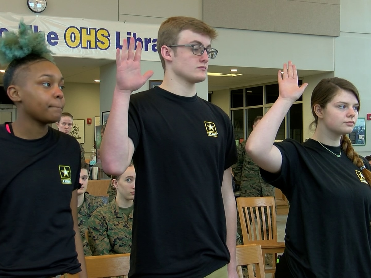 Oxford cadets take first oath of enlistment from space