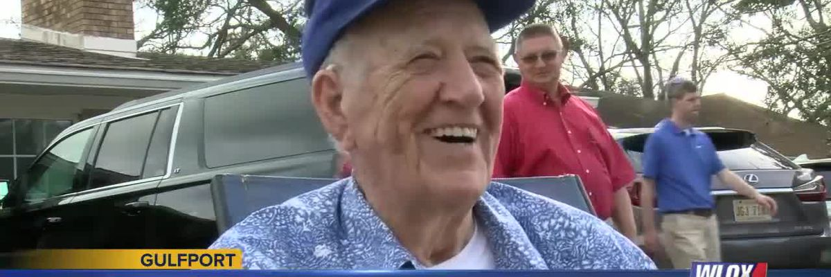 World War II veteran celebrates 100th birthday through drive-by event
