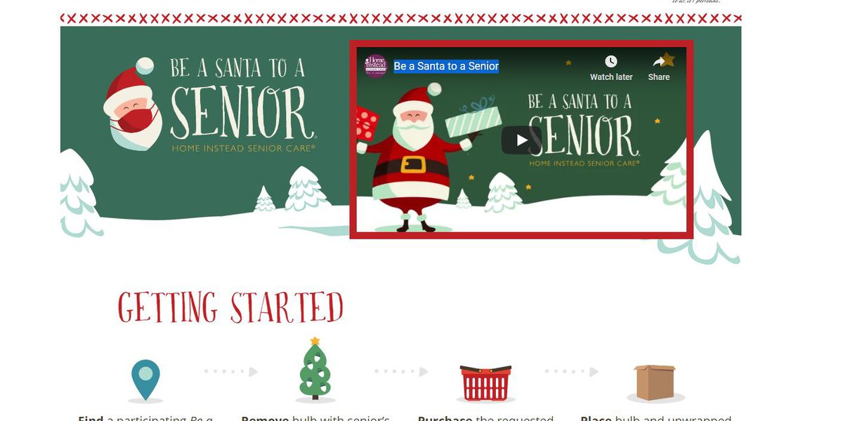 Home Instead launches annual 'Be a Santa to a Senior' program