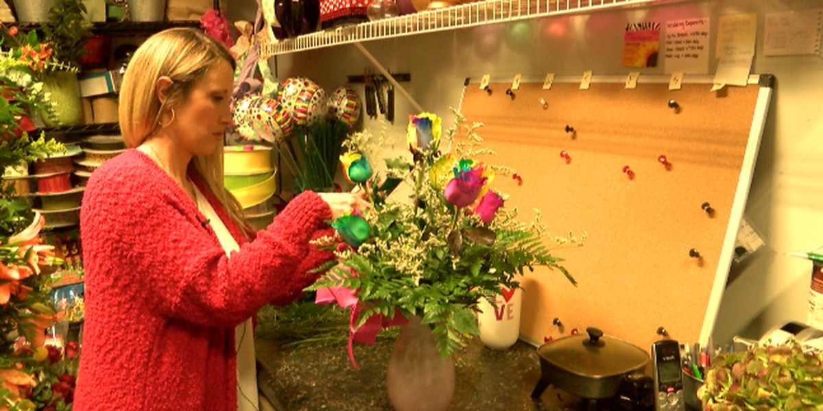 Florists prepare for Valentine's Day