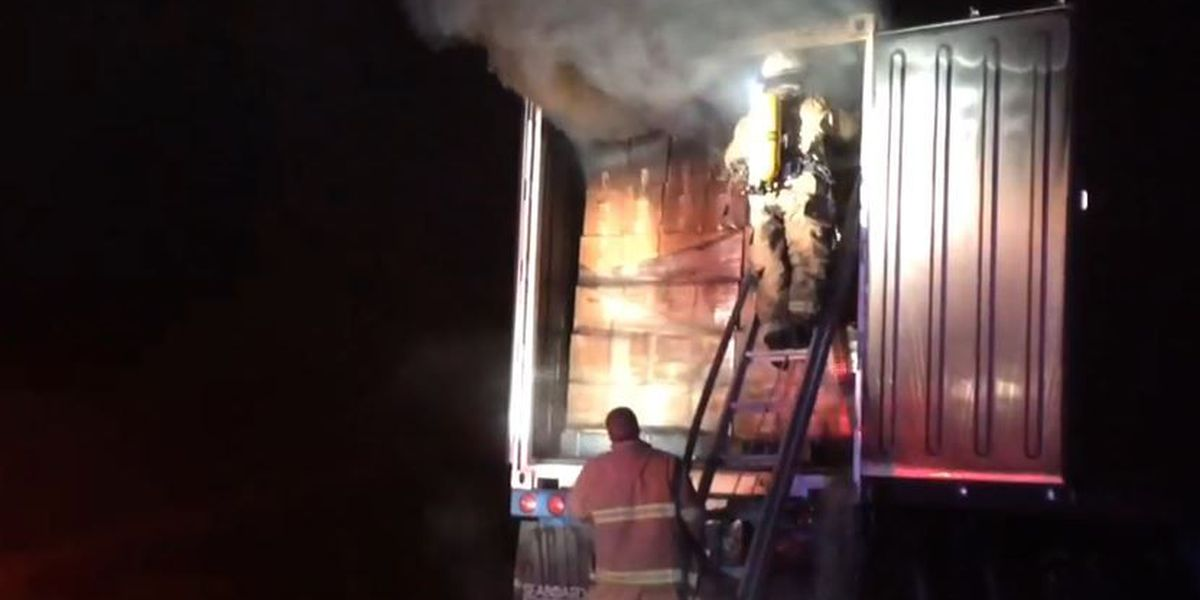 Emergency crews on scene of 18-wheeler fire in Forrest Co.