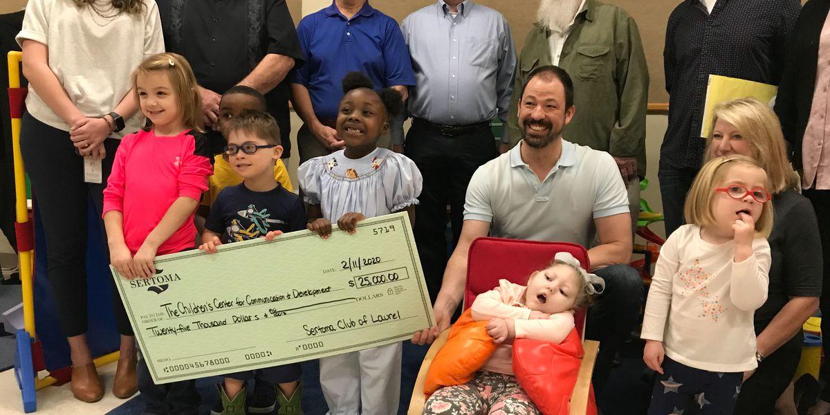 Sertoma Club donates $25K to USM's Children's Center