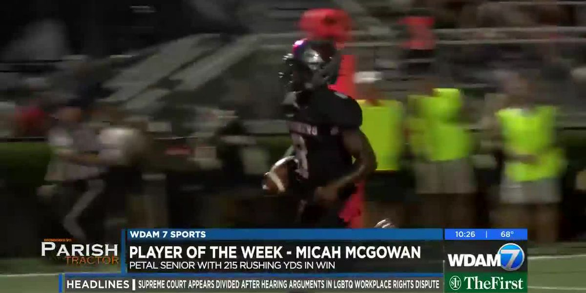 Player of the Week - Petal's Micah McGowan