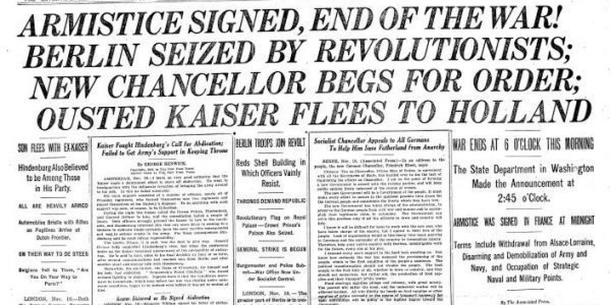 On this day in history - November 11th, 1918