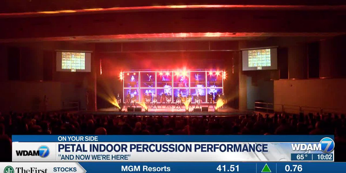 Petal Indoor Percussion performs for community after canceled competition