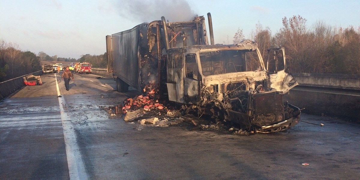 7 injured in truck fire accident in Greene County