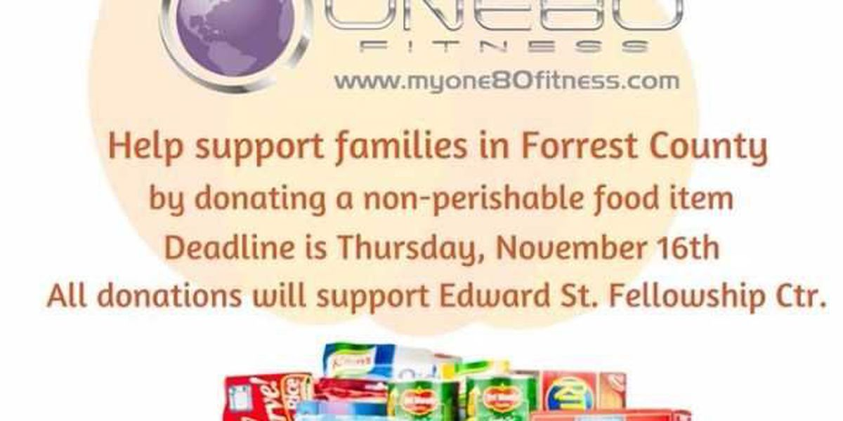 One80 Fitness holds Thanksgiving Food Drive