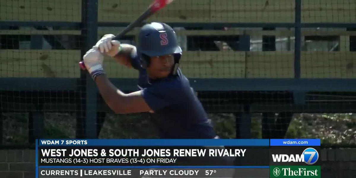 West Jones, South Jones renew rivalry on the diamond