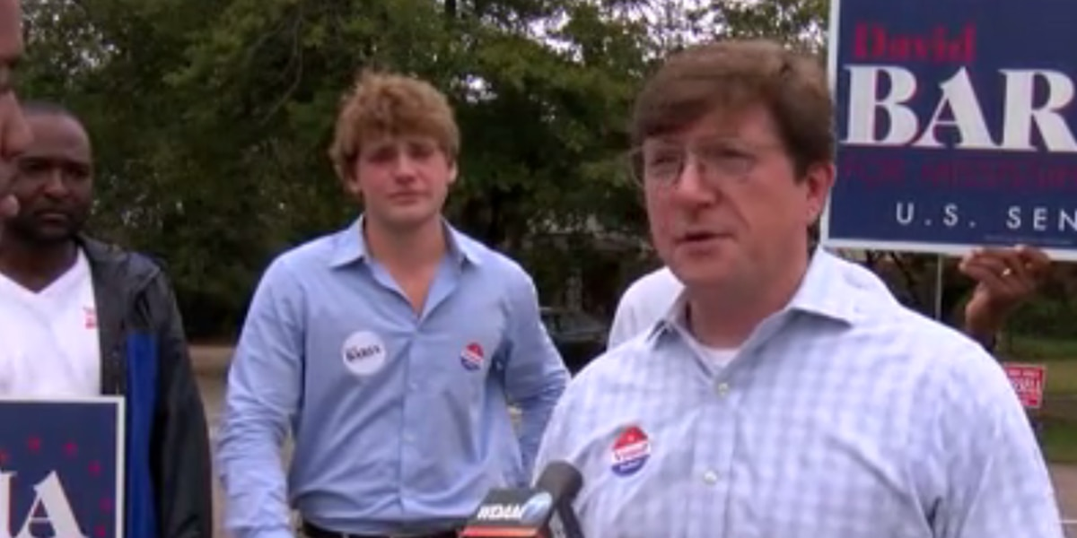 Baria campaigns in Hattiesburg on Election Day