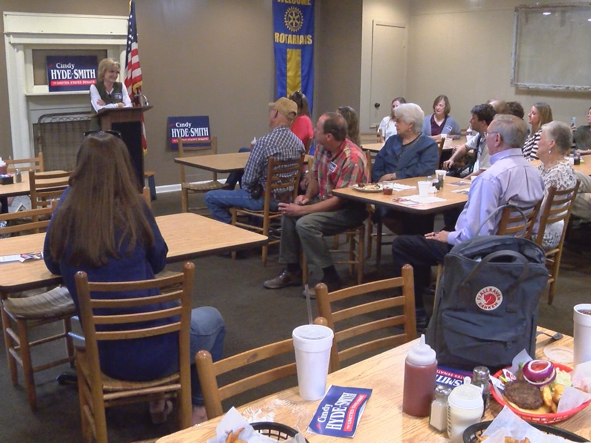 Cindy Hyde-Smith kicks off campaign bus tour in Collins