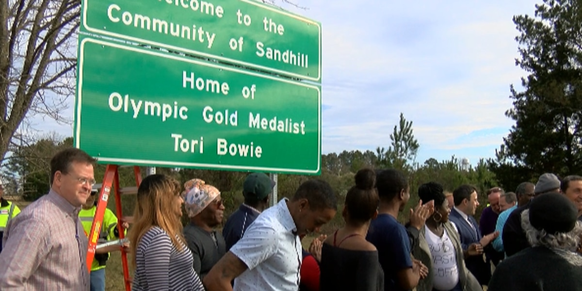 Gold medalist Bowie honored with highway sign