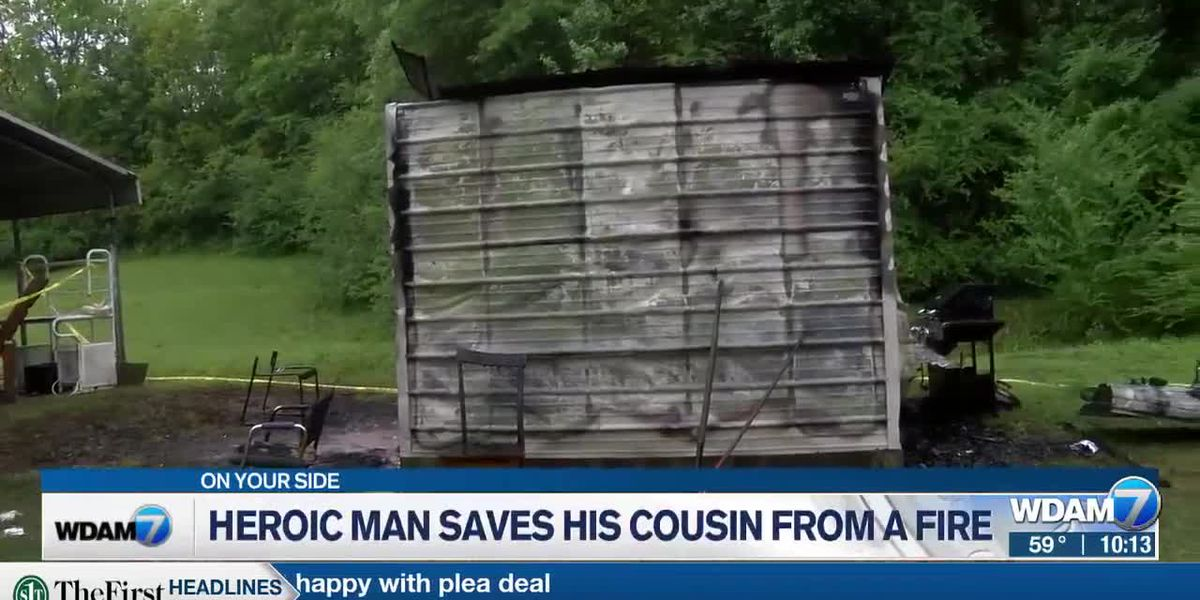 Bay Springs man rescues cousin from burning shed