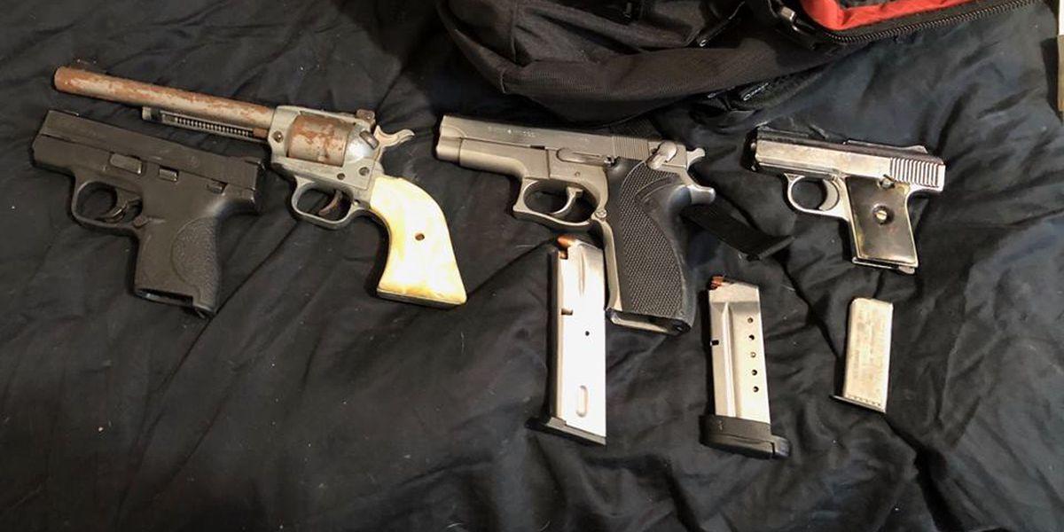 Multiple guns seized during drug arrest in Hattiesburg