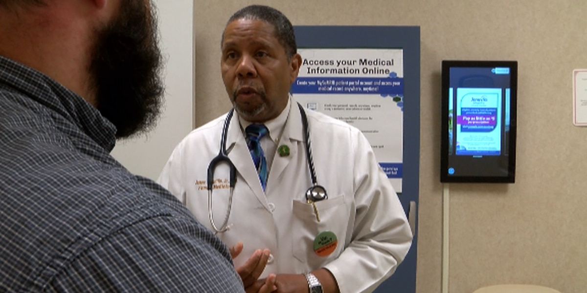 Health clinic promoting men's health with free exams