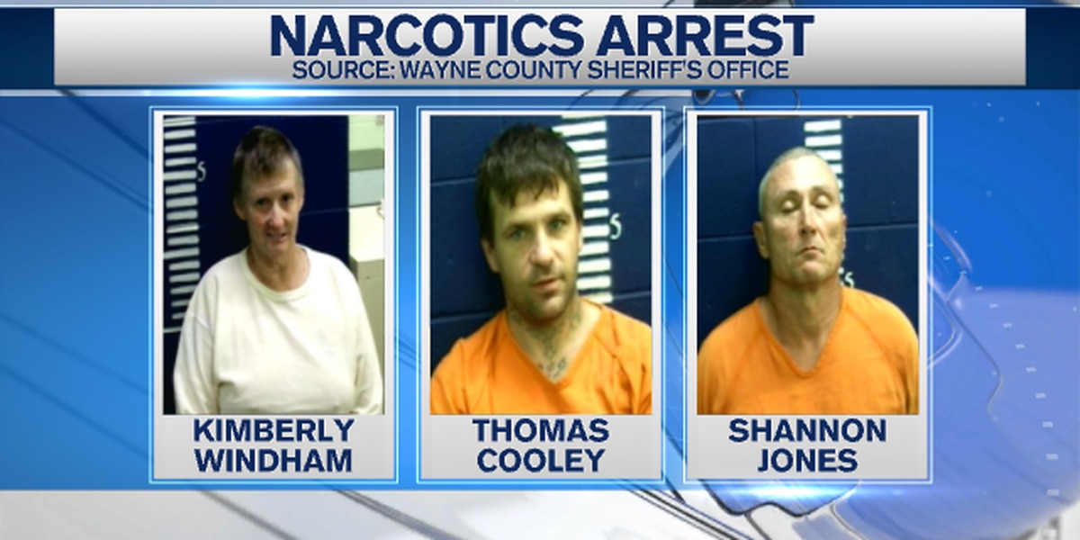 Three arrested in Wayne County on drug charges