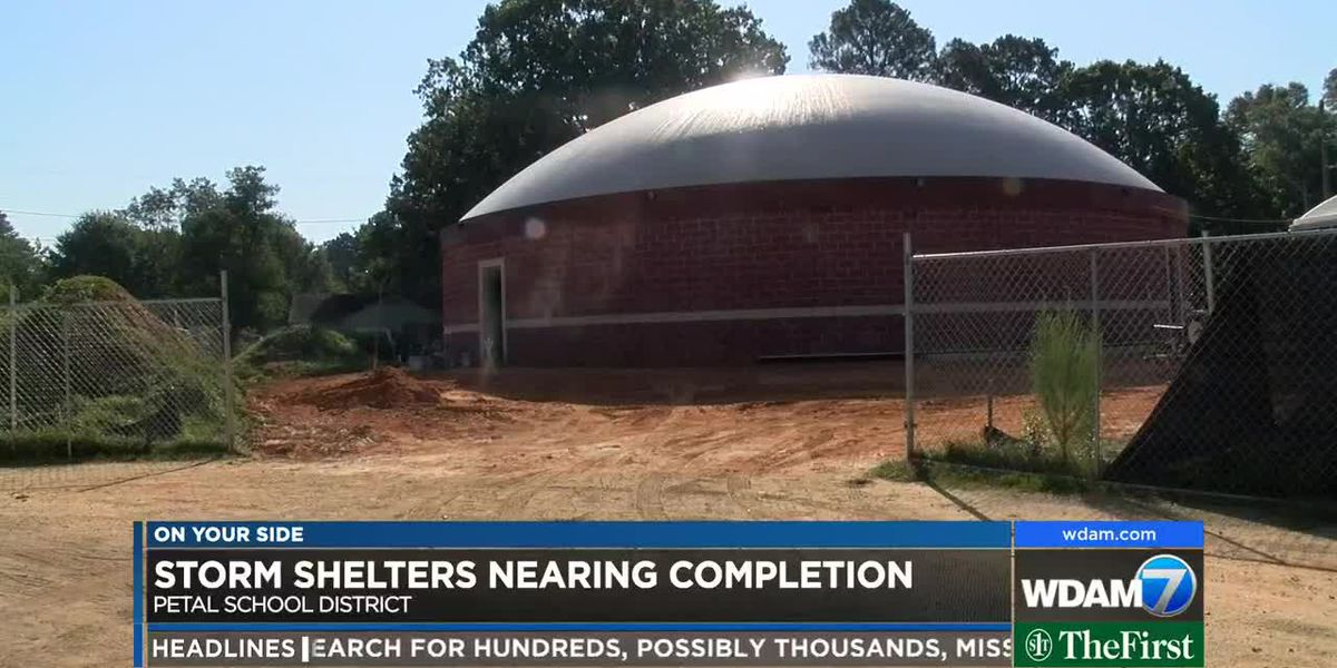 Petal School District close to finishing one of 4 storm shelters