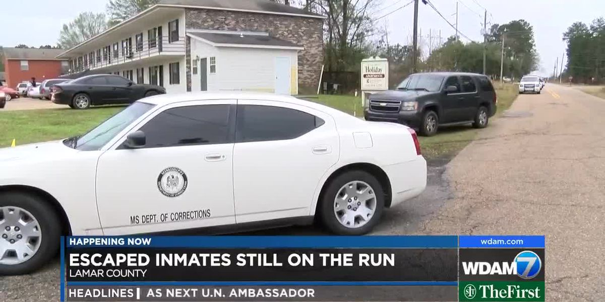 Search continues for escaped Forrest County inmates