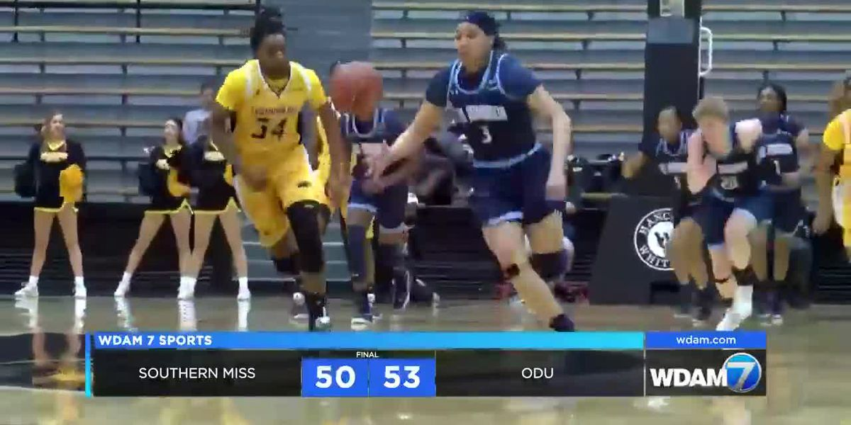 Lady Eagles fall late to ODU, 53-50