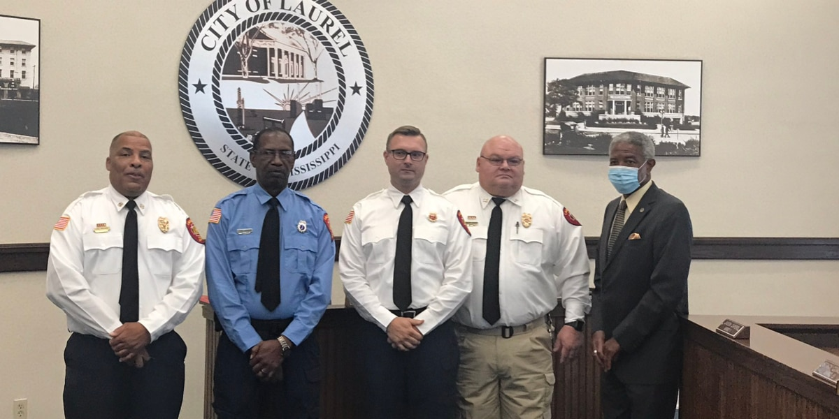 Three members of Laurel Fire Department promoted