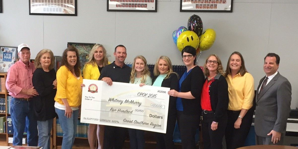Local high school student named McDonald's Crew Person of the Year