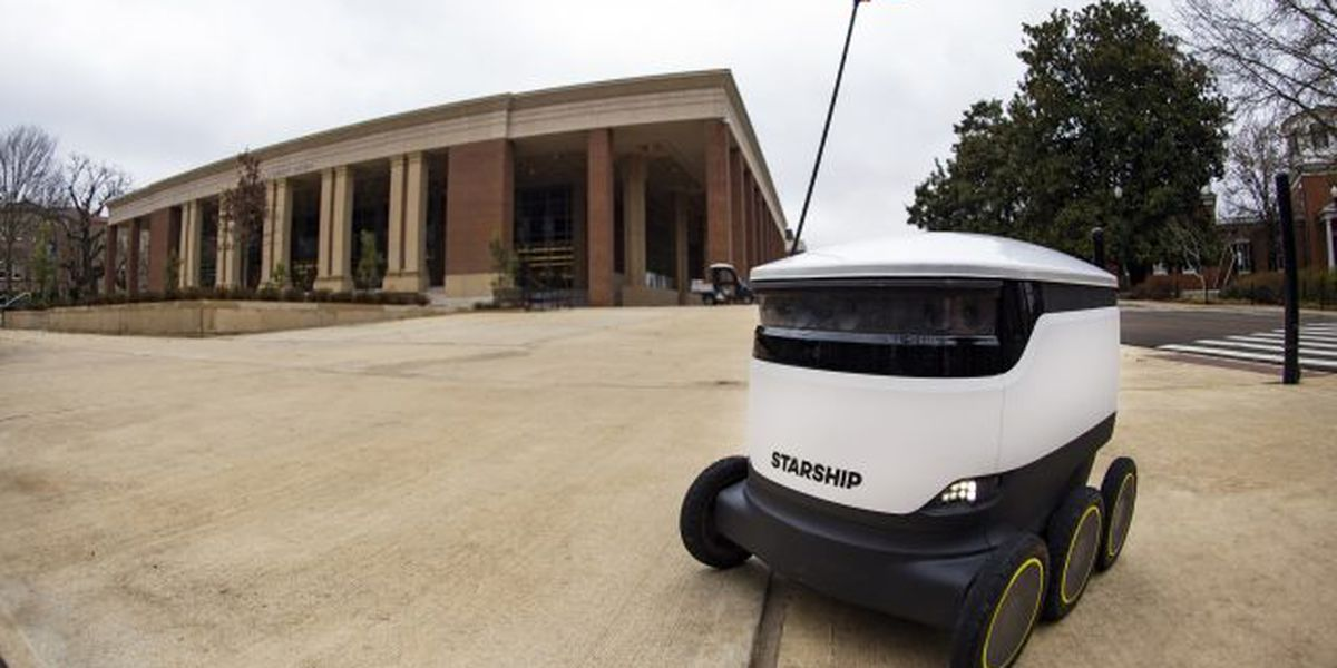 Food delivery robots take over Ole Miss campus