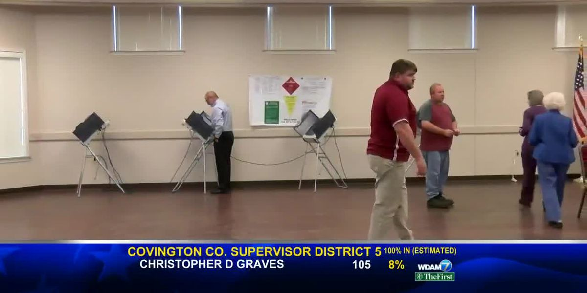 Jones Co. voting turnout WDAM Sunrise 11/6/19