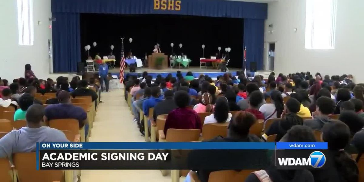 Bay Springs High hosts academic signing day for 11 students
